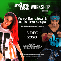 Picture of SALSATION® Workshop with Julia and Yoyo S. Online, Russia/Malaysia/Singapore only 5 DEC 2020