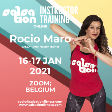 Picture of SALSATION® INSTRUCTOR TRAINING with Rocío, Online, Belgium only, 16-17 JAN 2021