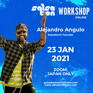 Picture of SALSATION® Workshop with Alejandro, Online, Japan only, 23 JAN 2021