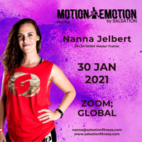 Picture of Motion to Emotion by Salsation® Workshop with Nanna, Online, Global 30 JAN 2021