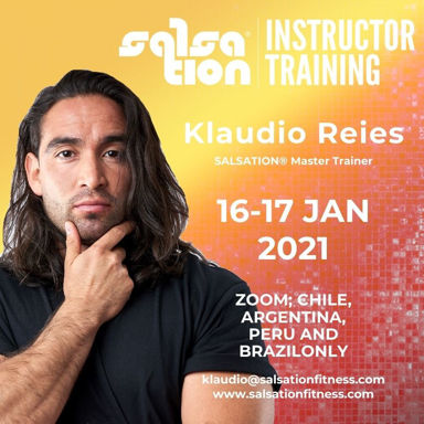 Picture of SALSATION® Instructor Training with Klaudio, Chile, Argentina, Peru and Brazil only,  16-17 JAN 2021