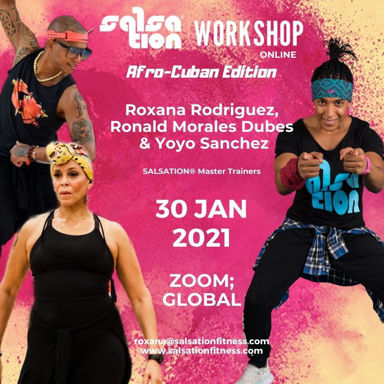 Picture of SALSATION® Workshop Afro-Cuban Edition with Roxana, Ronald and Yoyo, Online, Global 30 JAN 2021