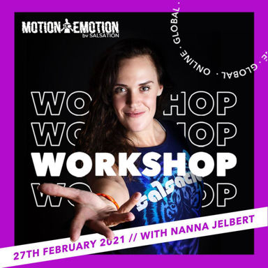 Picture of Motion to Emotion by Salsation® Workshop with Nanna, Online, Global, 27 FEB 2021