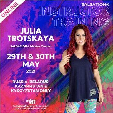 Picture of SALSATION, Instructor training with Julia, Online, Russia, 29 May 2021 - 30 May 2021