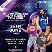 Picture of SALSATION Workshop with Viktorija, Kukizz & Katia, Online, Slovakia, Slovenia, Czech Republic, Croatia & Hungary, 26 Jun 2021