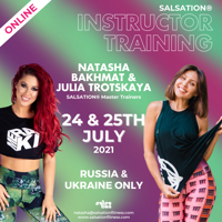 Picture of SALSATION® Instructor training with Natasha and Julia, Online, Russia & Ukraine only, 24 Jul 2021 - 25 Jul 2021