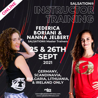 Picture of SALSATION Instructor training with Nanna and Federica, Online, Germany, Scandinavia, Bulgaria, Lithuania & Ireland Only, 25 Sep 2021 - 26 Sep 2021