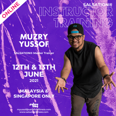 Picture of SALSATION, Instructor training with Muzry, Online, Malaysia and Singapore only, 12 Jun 2021 - 13 Jun 2021