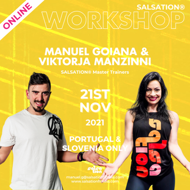 Picture of SALSATION Workshop with Viktorija and Manuel, Online, Portugal and Slovenia Only, 21 Nov 2021