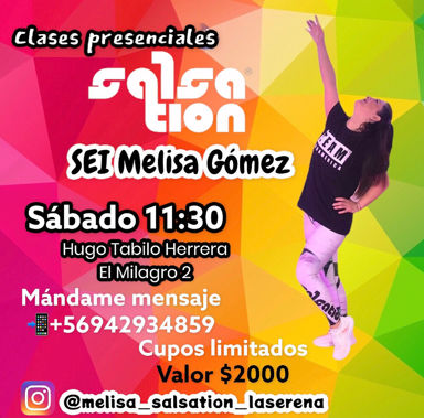 Picture of SALSATION® class with Melisa Gomez, Saturday, 11:30