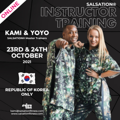 Picture of SALSATION Instructor training with Kami & Yoyo, Online, Republic of Korea only, 23 Oct 2021 - 24 Oct 2021