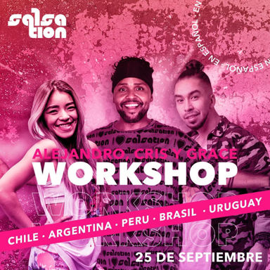 Picture of SALSATION Workshop with Alejandro, Grace y Cris, Online, Argentina, Chile, Brasil, Peru y Uruguay, 25 Sep 2021