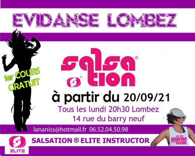 Picture of SALSATION® class with Anaïs Launay, Monday, 20:30